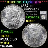***Auction Highlight*** 1887-o Morgan Dollar $1 Graded ms64+ By SEGS (fc)