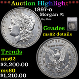 ***Auction Highlight*** 1897-o Morgan Dollar $1 Graded ms62 details By SEGS (fc)