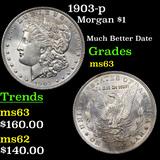 1903-p Morgan Dollar $1 Grades Select Unc