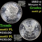 1882-o Morgan Dollar $1 Grades Select Unc PL