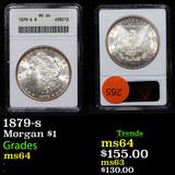 1879-s Morgan Dollar $1 Graded ms64 By ANACS