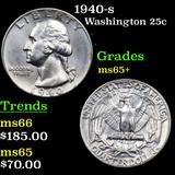 1940-s Washington Quarter 25c Grades GEM+ Unc