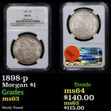 NGC 1898-p Morgan Dollar $1 Graded ms63 By NGC
