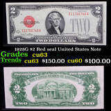 1928G $2 Red seal United States Note Grades Select CU