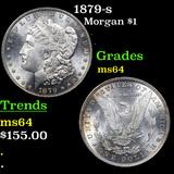 1879-s Morgan Dollar $1 Grades Choice Unc