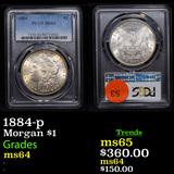 PCGS 1884-p Morgan Dollar $1 Graded ms64 By PCGS