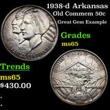 1938-d Arkansas Old Commem Half Dollar 50c Grades GEM Unc