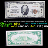 1929 $10 National Currency 'The 2nd National Bank of Philadelphia, PA' Grades xf+