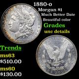 1880-o Morgan Dollar $1 Grades Unc Details