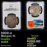 1902-o Morgan Dollar $1 Graded ms64 By NGC