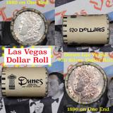 ***Auction Highlight*** Full Morgan/Peace Casino Las Vegas Dunes silver $1 roll $20, 1880 & 1896 end