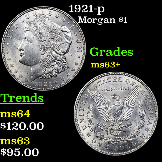 1921-p Morgan Dollar $1 Grades Select+ Unc