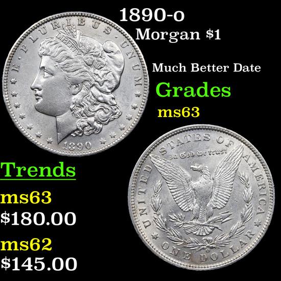1890-o Morgan Dollar $1 Grades Select Unc