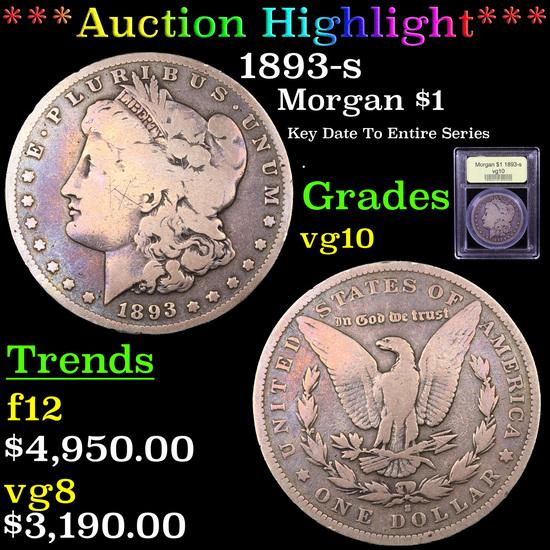 ***Auction Highlight*** 1893-s Morgan Dollar $1 Graded vg+ By USCG (fc)