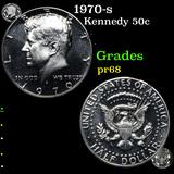 Proof 1970-s Kennedy Half Dollar 50c Grades GEM++ Proof