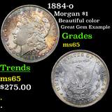 1884-o Morgan Dollar $1 Grades GEM Unc