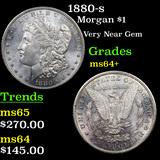 1880-s Morgan Dollar $1 Grades Choice+ Unc