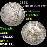 1832 Capped Bust Half Dollar 50c Grades xf+