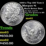 1889-o Top 100 Vam-2 Morgan Dollar $1 Grades Select Unc