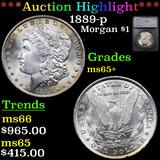 ***Auction Highlight*** 1889-p Morgan Dollar $1 Graded ms65+ By SEGS (fc)