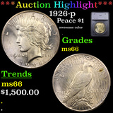 ***Auction Highlight*** 1926-p Peace Dollar $1 Graded ms66 By SEGS (fc)