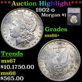 ***Auction Highlight*** 1902-o Morgan Dollar $1 Graded ms66+ By SEGS (fc)