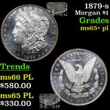1879-s Morgan Dollar $1 Grades GEM+ PL