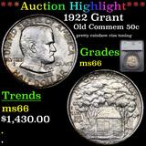 ***Auction Highlight*** 1922 Grant Old Commem Half Dollar 50c Graded ms66 By SEGS (fc)