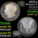 1878-s Morgan Dollar $1 Grades Choice Unc+ PL
