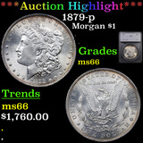 ***Auction Highlight*** 1879-p Morgan Dollar $1 Graded ms66 By SEGS (fc)