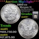 ***Auction Highlight*** 1893-cc Morgan Dollar $1 Graded ms64+ By SEGS (fc)