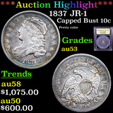 ***Auction Highlight*** 1837 JR-1 Capped Bust Dime 10c Graded Select AU By USCG (fc)