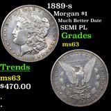 1889-s Morgan Dollar $1 Grades Select Unc