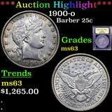 ***Auction Highlight*** 1900-o Barber Quarter 25c Graded Select Unc By USCG (fc)