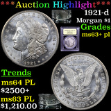 ***Auction Highlight*** 1921-d Morgan Dollar $1 Graded Select Unc+ PL By USCG (fc)