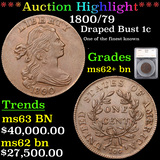 ***Auction Highlight*** 1800/79 Draped Bust Large Cent 1c Graded ms62+ bn By SEGS (fc)