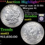 ***Auction Highlight*** 1901-p vam 14 I3 R5 Morgan Dollar $1 Graded Select Unc By USCG (fc)