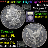 ***Auction Highlight*** 1880-o Morgan Dollar $1 Graded Select Unc+ PL By USCG (fc)