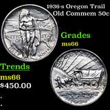 1936-s Oregon Trail Old Commem Half Dollar 50c Grades GEM+ Unc