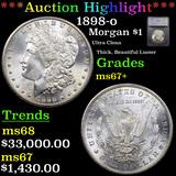 ***Auction Highlight*** 1898-o Morgan Dollar $1 Graded ms67+ By SEGS (fc)