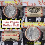 ***Auction Highlight*** Full Morgan/Peace Casino Las Vegas Stardust silver $1 roll $20, 1889 & 1896