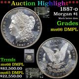 ***Auction Highlight*** 1887-o Morgan Dollar $1 Graded ms66 DMPL By SEGS (fc)