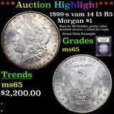 ***Auction Highlight*** 1899-s vam 14 I3 R5 Morgan Dollar $1 Graded GEM Unc By USCG (fc)
