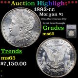 ***Auction Highlight*** 1892-cc Morgan Dollar $1 Graded ms65 By SEGS (fc)