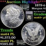 ***Auction Highlight*** 1879-o Morgan Dollar $1 Graded ms63+ pl By SEGS (fc)
