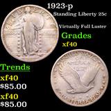 1923-p Standing Liberty Quarter 25c Grades xf