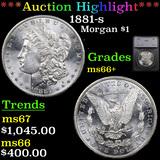 ***Auction Highlight*** 1881-s Morgan Dollar $1 Graded ms66+ By SEGS (fc)