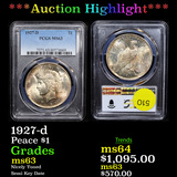 ***Auction Highlight*** PCGS 1927-d Peace Dollar $1 Graded ms63 By PCGS (fc)