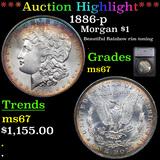***Auction Highlight*** 1886-p Morgan Dollar $1 Graded ms67 By SEGS (fc)