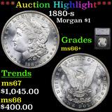***Auction Highlight*** 1880-s Morgan Dollar $1 Graded ms66+ By SEGS (fc)